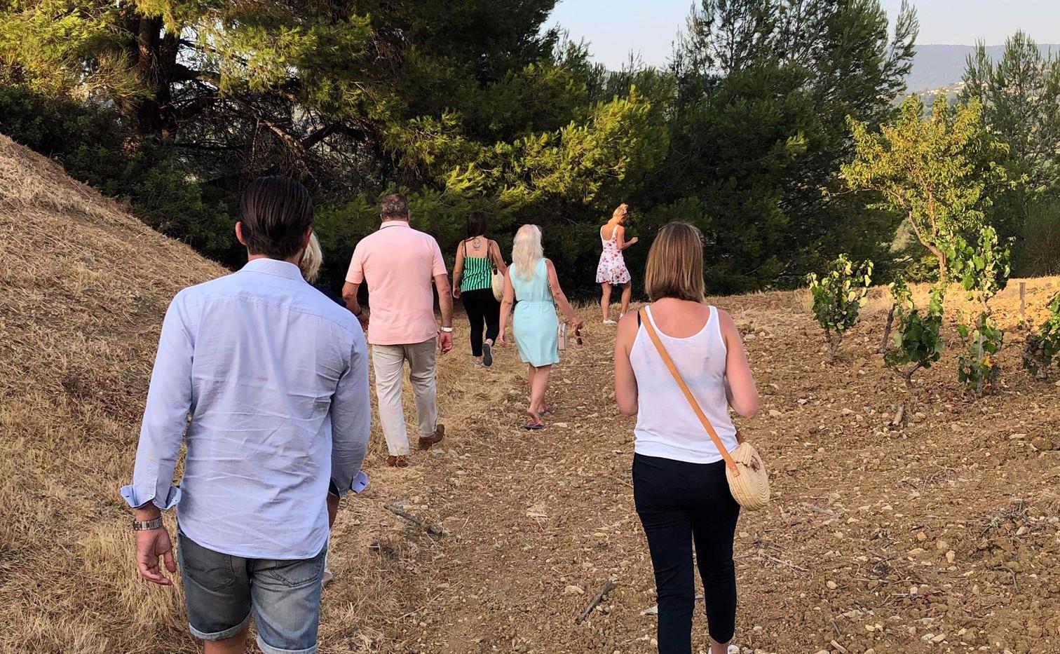 Dégustation au coucher du soleil - la Cadière d'Azur