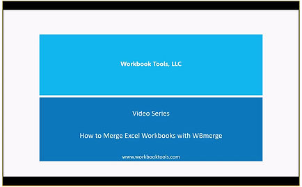 How to Merge Excel Workbooks with WBmerge