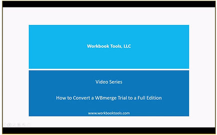 Convert WBmerge Free Trial to a Full Edition
