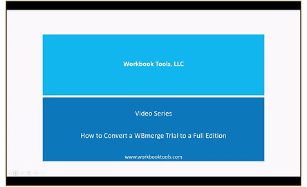 Convert WBmerge Free Trial to Full Subscription
