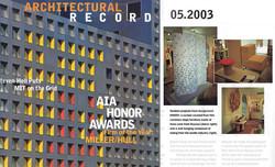 Architectural Record 2003