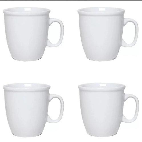 Kit 6 caneca biruta com 350 ml Porcelanas