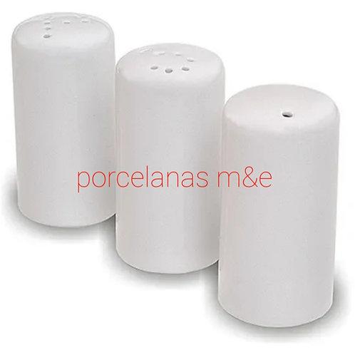 Kit saleiro, paliteiro, pimenteiro em porcelana