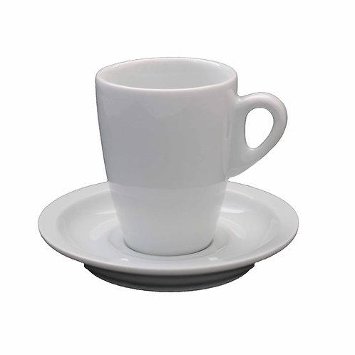 Kit 12 xicara  para cafe genova com 12 pires 80 ml
