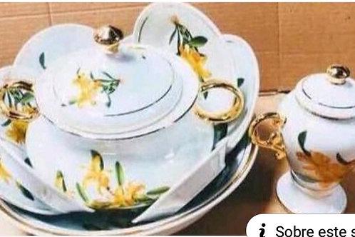 Igba oxum orquídea amarela ouro médio frete grátis