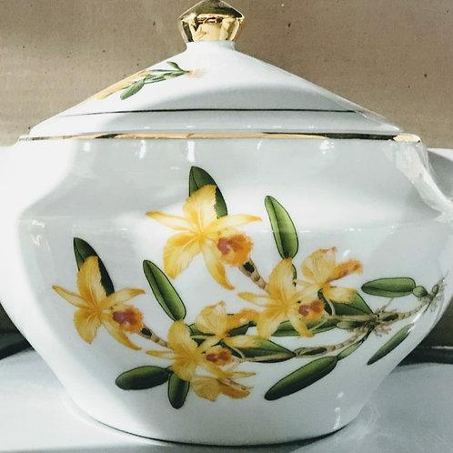 Sopeira oxum orquídea amarela ouro