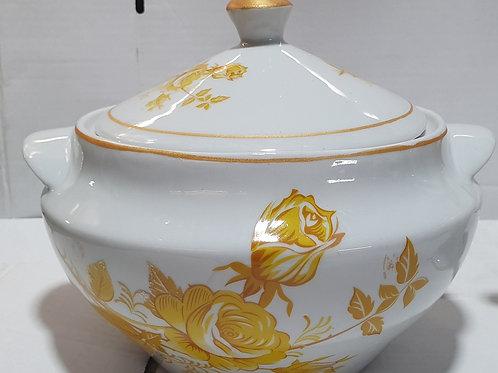 Sopeira oxum 3 litro em porcelana ouro