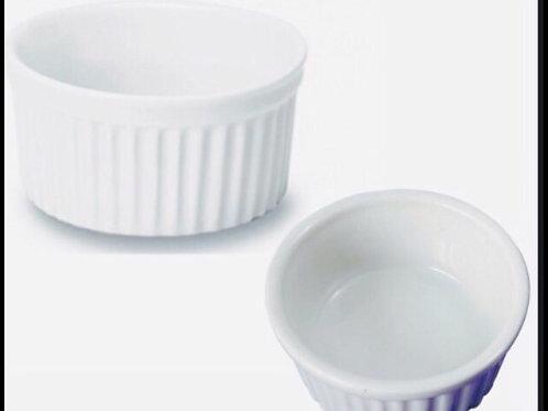 50 ramekim de 90 ml em porcelana