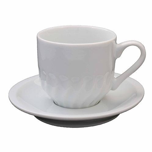 6 xícara para cha com pires em porcelana
