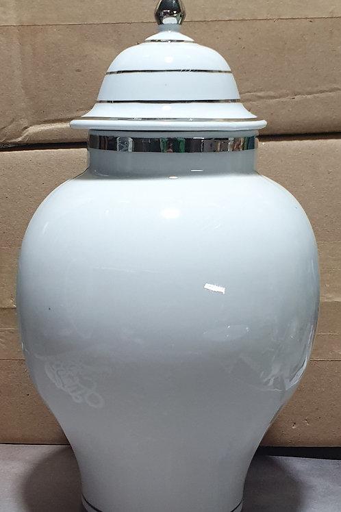 Quartinha grande oxala prata em porcelana 30x15 cm