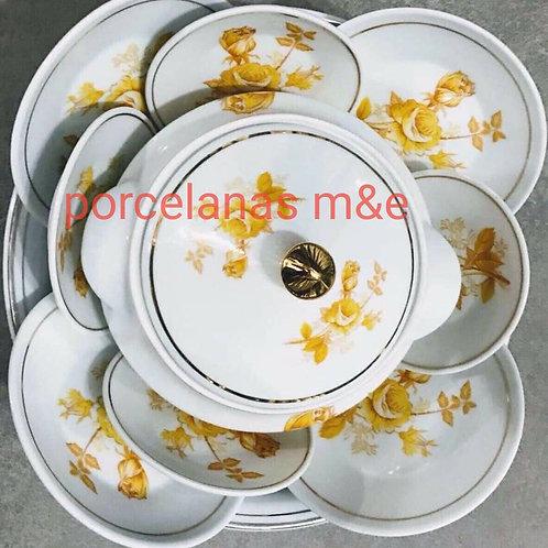 Igba oxum medio 11 peças porcelana