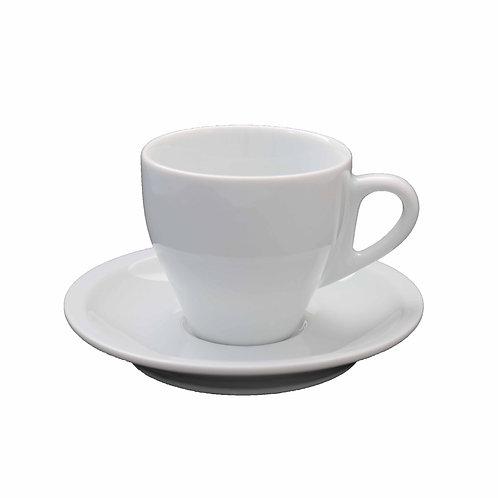 12 xícara com pires em porcelana  80 ml
