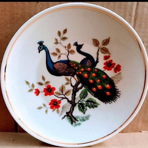 4 Prato pavao G   e 4 P em porcelanas pavao