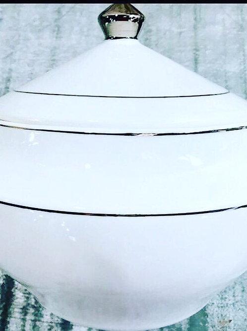Sopeira fio prata em porcelana 3150  ml