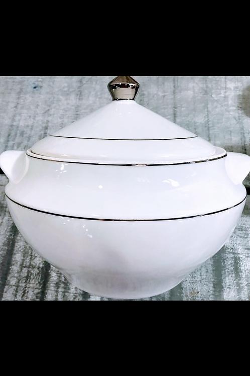 Sopeira fio prata 3 litro em porcelana