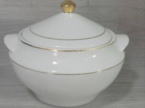 Sopeira fio ouro 3 litros porcelana