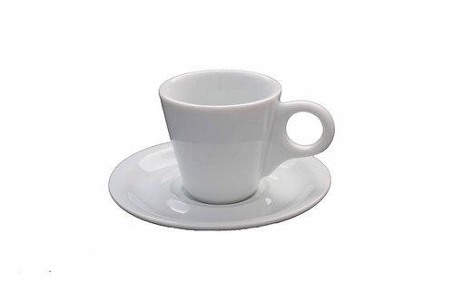 12 xícara com pires em porcelana  70 ml