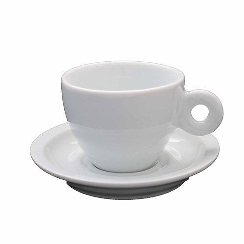 6 xícara com 6 pires em porcelana  120 ml