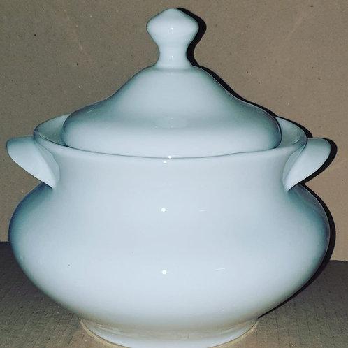Sopeira + quartinha toda branca  porcelana