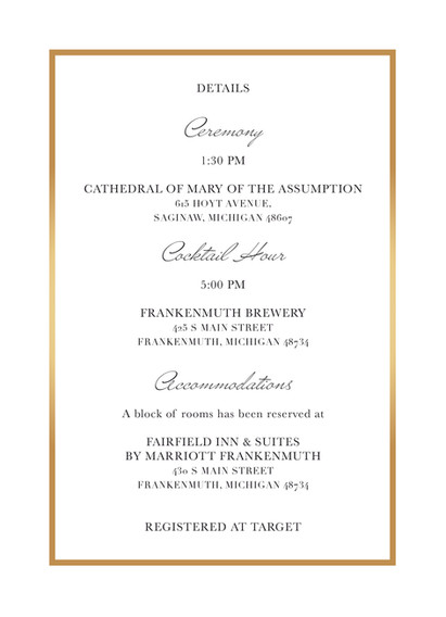 Wedding Invitation - Back