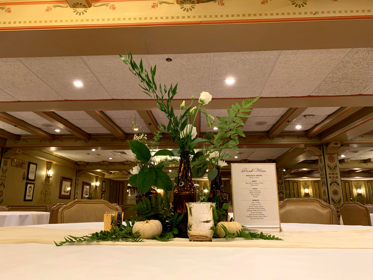 Double-Sided Wedding Reception Table Numbers