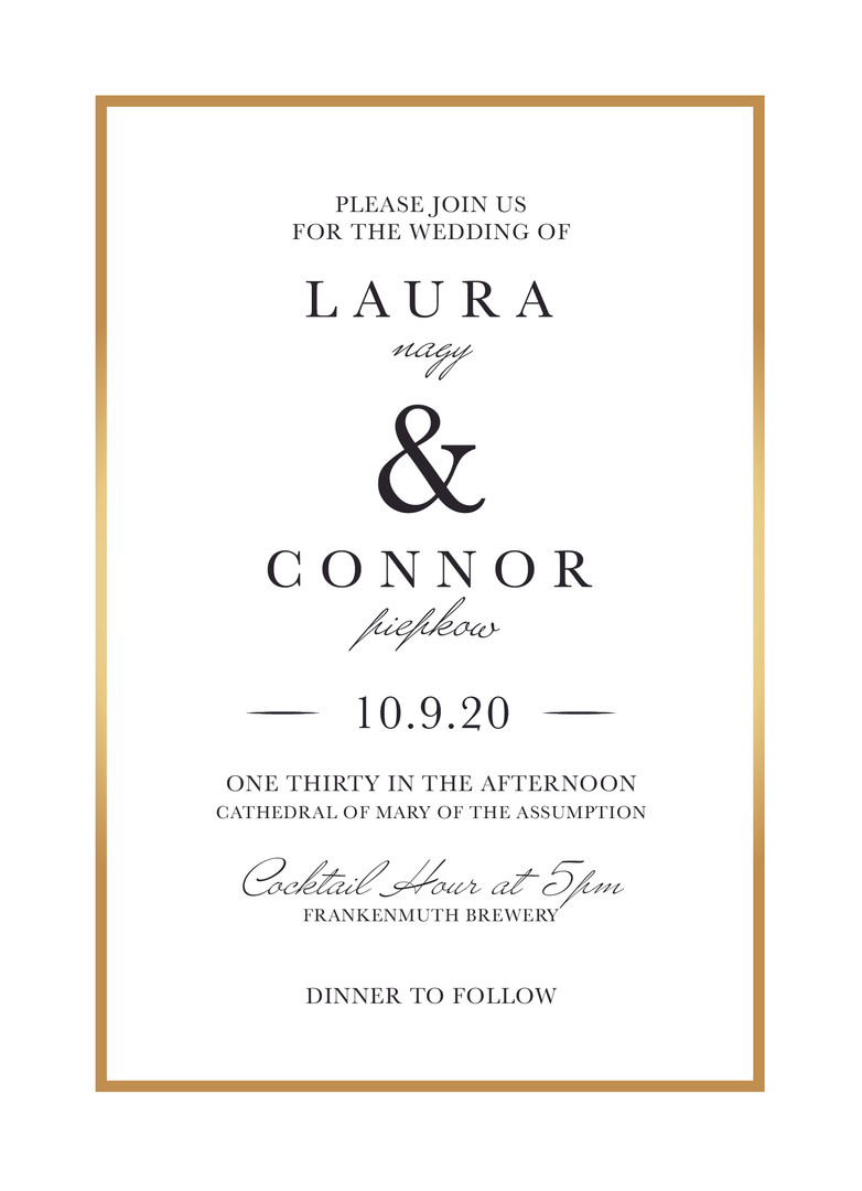 Wedding Invitation - Front