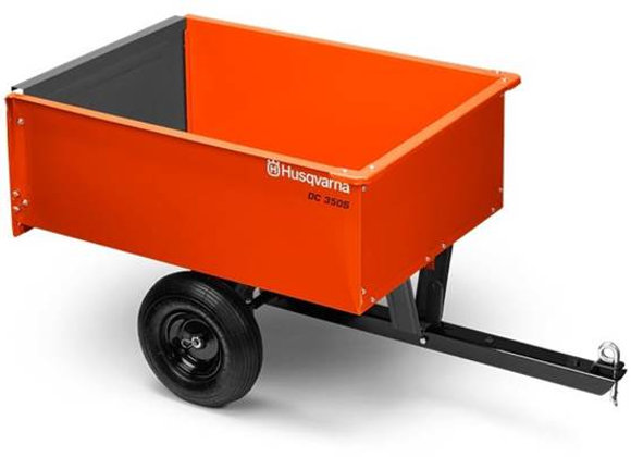 2020 9 Cu. Ft. Steel Dump Cart - Husqvarna