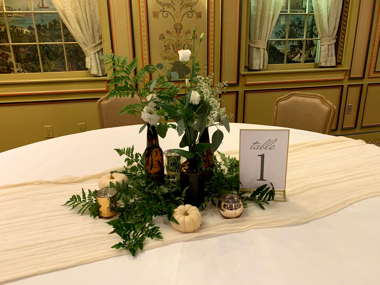 Formal Event Table Numbers