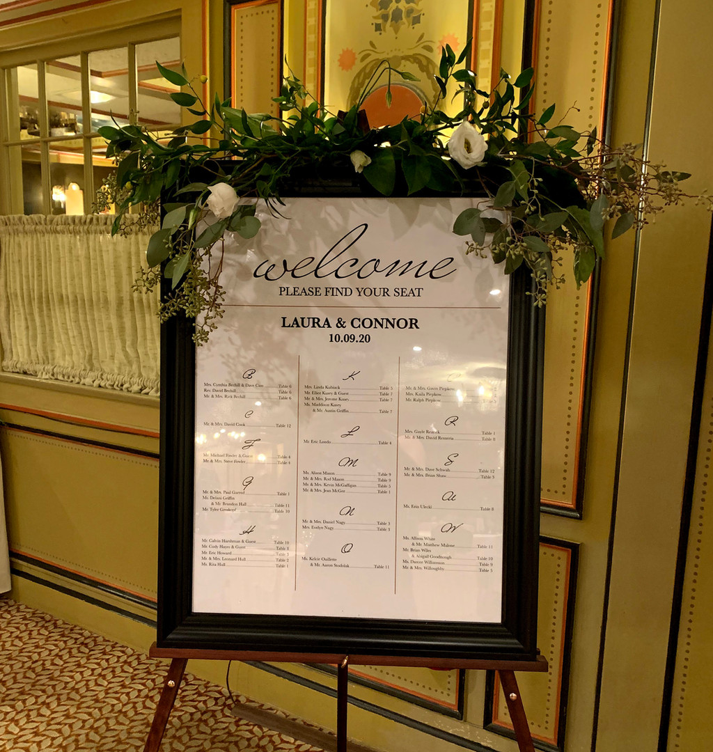 Welcome Sign & Seating Chart
