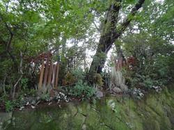 お庭のリフォーム 石積みの花壇 福岡市