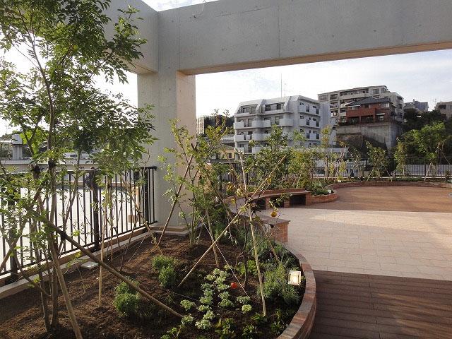 ハーブの香りと季節感漂う屋上緑化 福岡市
