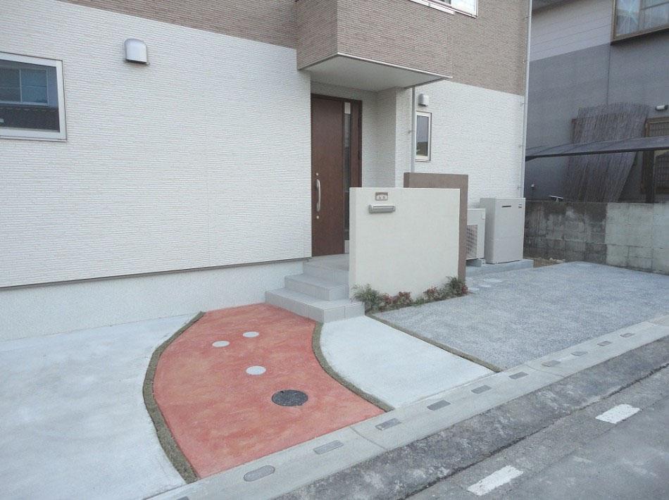 シンプルな外構エクステリア 基山町