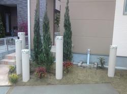 可愛い門柱 オリジナル円柱 久留米市