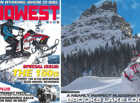 "Snowmobile Magazine Boasts ""Nearly Perfect Sledding Trip to Brooks Lake Lodge"""