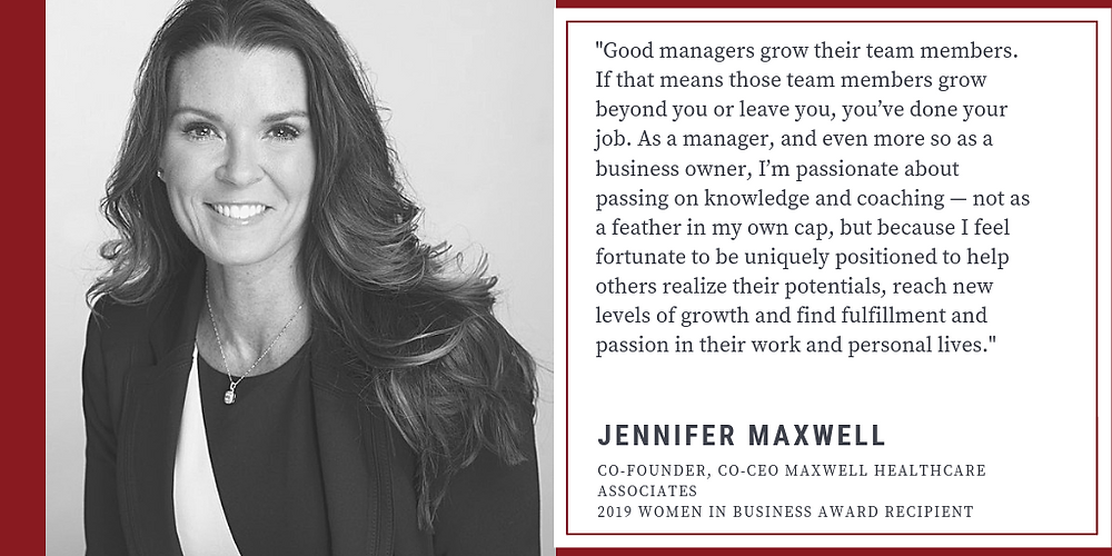 jennifer maxwell women in business award