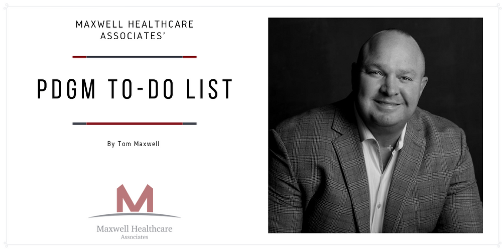 PDGM to-do list for your home health agency