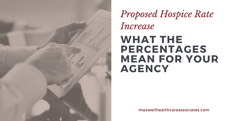 proposed hospice rate increase--what the percentages mean for you