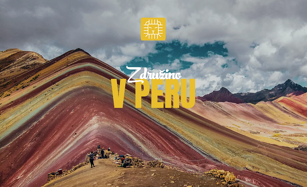 Gora v Peruju v različnih barvnih odtenkih