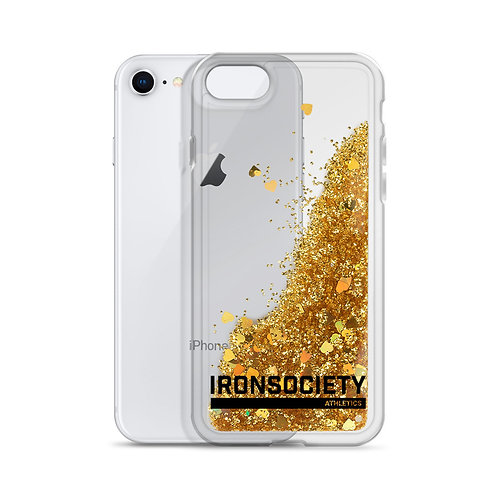 Iron Society Athletics Clear Liquid Glitter Phone Case
