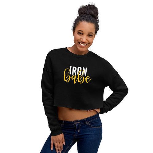 Iron Babe Printed Cropped Sweatshirt