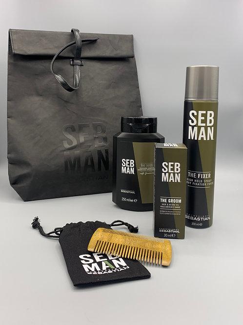 Mens Paket2 Shampoo/ Haar- & Bartöl/ Haarspray