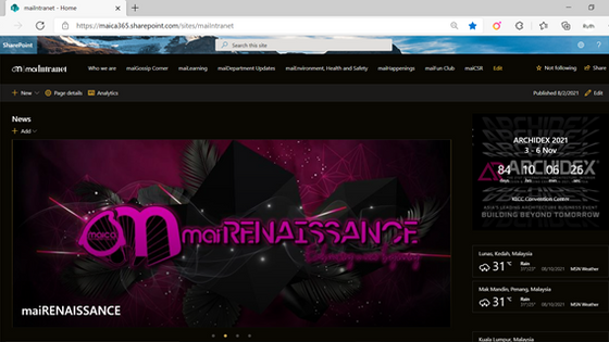 Wow! maiIntranet is up and running...