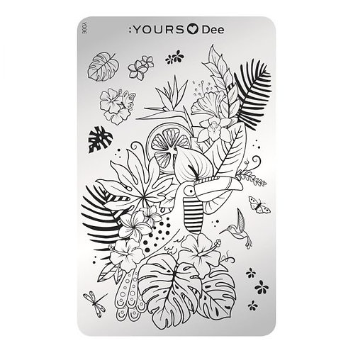 :YOURS PLATE YLD06 - Tropical Vibes LOVES DEE