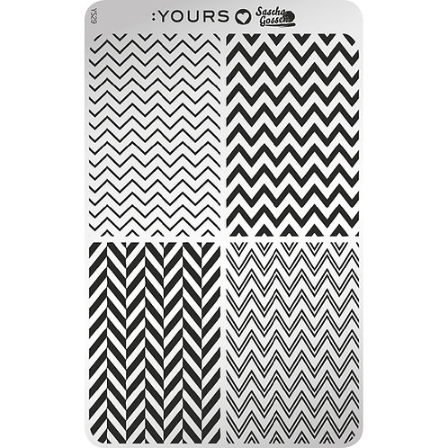 :YOURS PLATE YLS29 - Edgy Zebra LOVES SASCHA