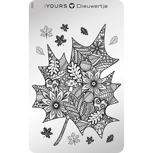 :YOURS PLATE YLD02 - Fabulous Fall LOVES DEE