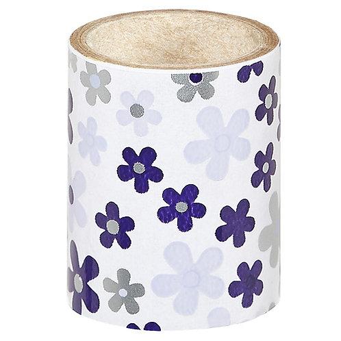 Purple Flowers Nail Foil