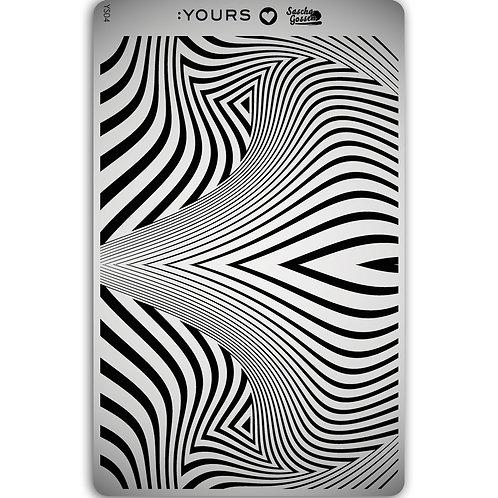 :YOURS PLATE YLS04 - Zebra LOVES SASCHA