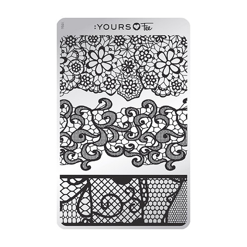 :YOURS PLATE YLF04 - Vintage Lace LOVES FEE