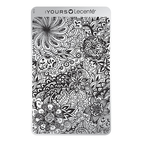 :YOURS PLATE YLL04 - Field of Flowers LOVES LECENTE