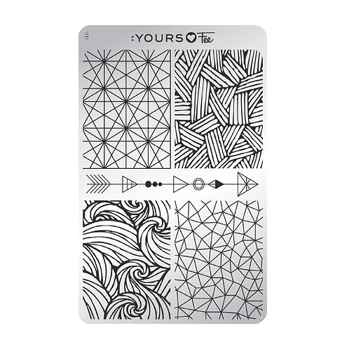 :YOURS PLATE YLF01 - Modern Geometry LOVES FEE